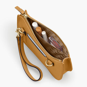 Interior Pocket - The Waverley 2 - Nappa Leather - Sand / Gold / Camel - Crossbody - Lo & Sons
