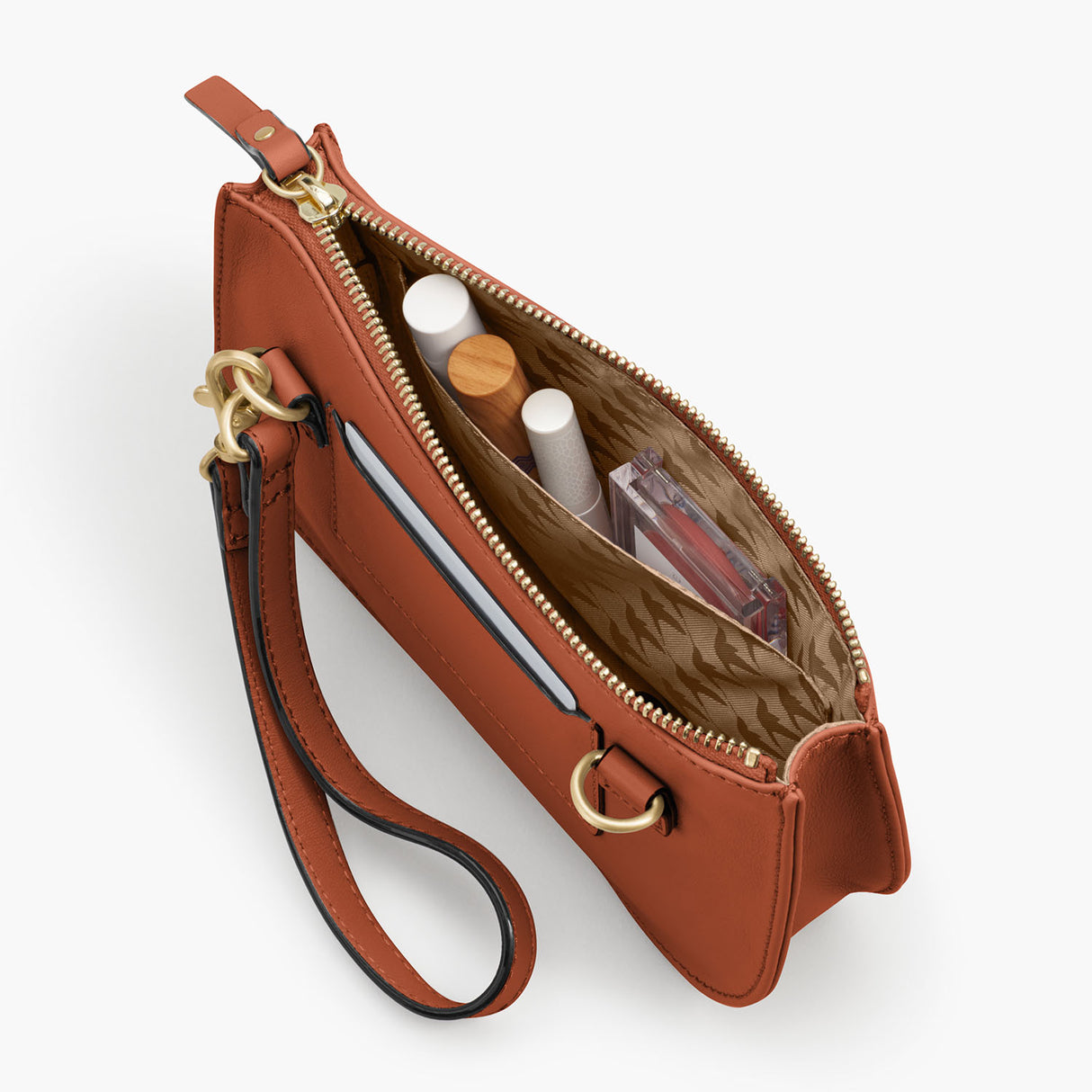 Interior Pocket - The Waverley 2 - Nappa Leather - Sienna / Gold / Camel - Crossbody - Lo & Sons