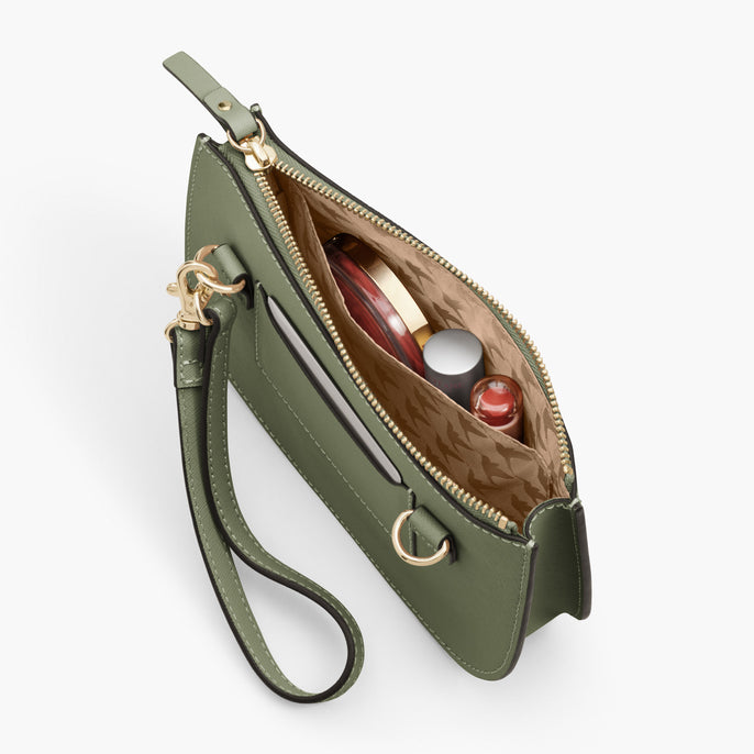 Interior Pocket - Waverley 2 - Saffiano Leather - Sage Green / Gold / Camel - Crossbody Bag - Lo & Sons