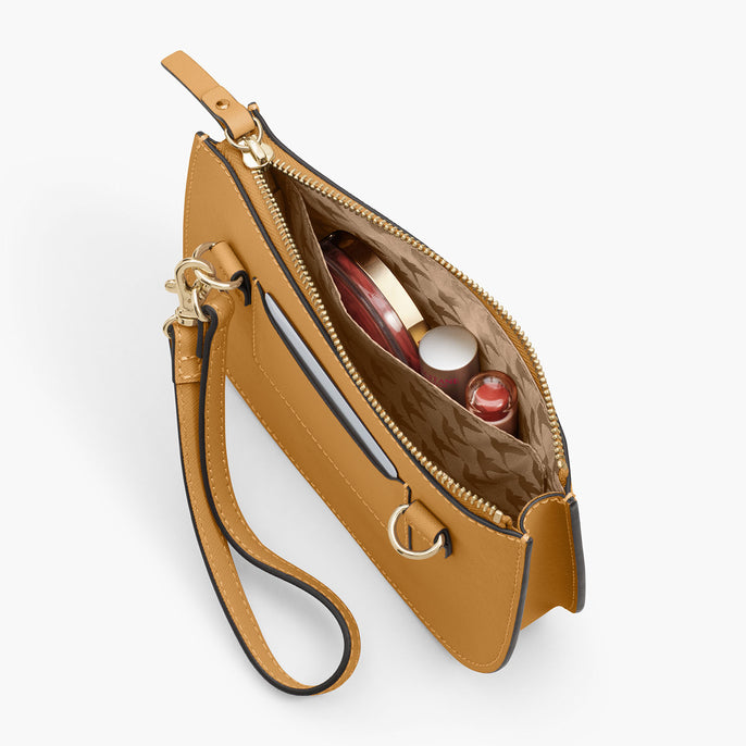Interior Pocket - The Waverley 2 - Saffiano Leather - Sand / Gold / Camel - Crossbody - Lo & Sons