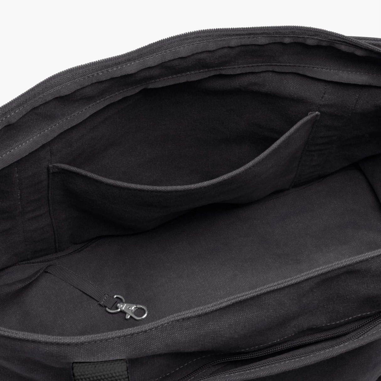 Interior Pocket - The Catalina Deluxe Tote - Washed Canvas - Midnight Ash - Tote - Lo & Sons