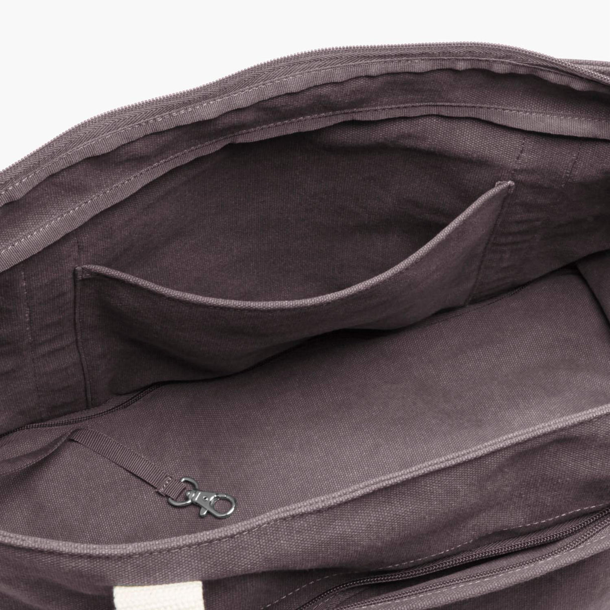 Interior Pocket - The Catalina Deluxe Tote - Washed Canvas - Thistle - Tote - Lo & Sons