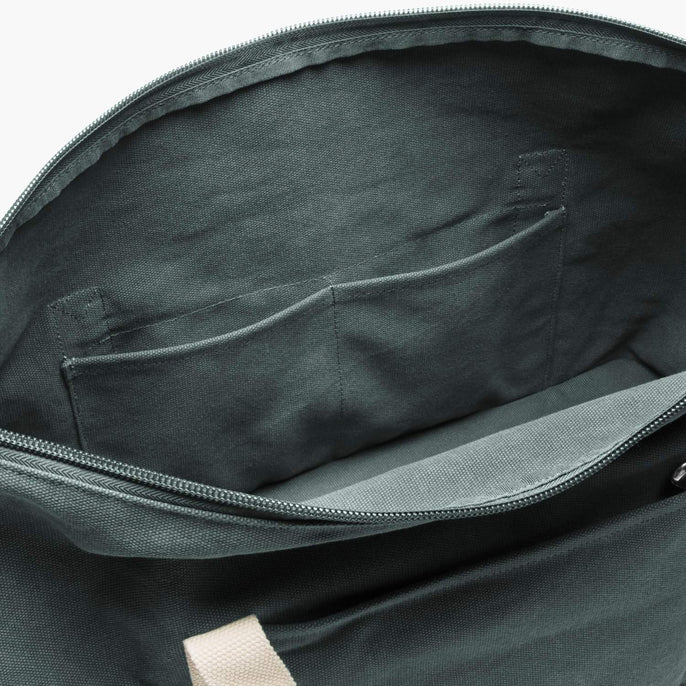 Interior Pockets - The Catalina Deluxe - Washed Canvas - Forest Green - Weekender - Lo & Sons