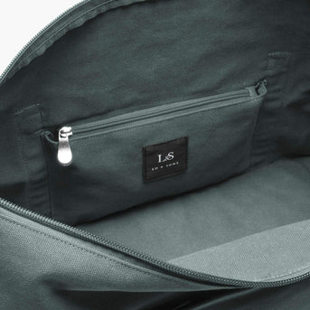 Interior Zip Pocket - The Catalina Deluxe - Washed Canvas - Forest Green - Weekender - Lo & Sons