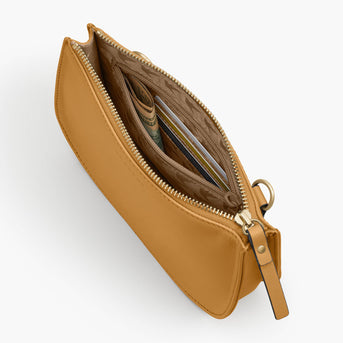 Interior Zipper - The Waverley 2 - Nappa Leather - Sand / Gold / Camel - Crossbody - Lo & Sons