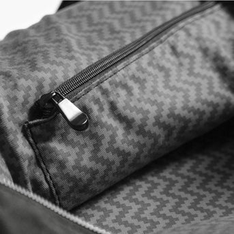 Interior Zipper - The Rhodes - Waxed Twill - Charcoal - Weekender - Lo & Sons