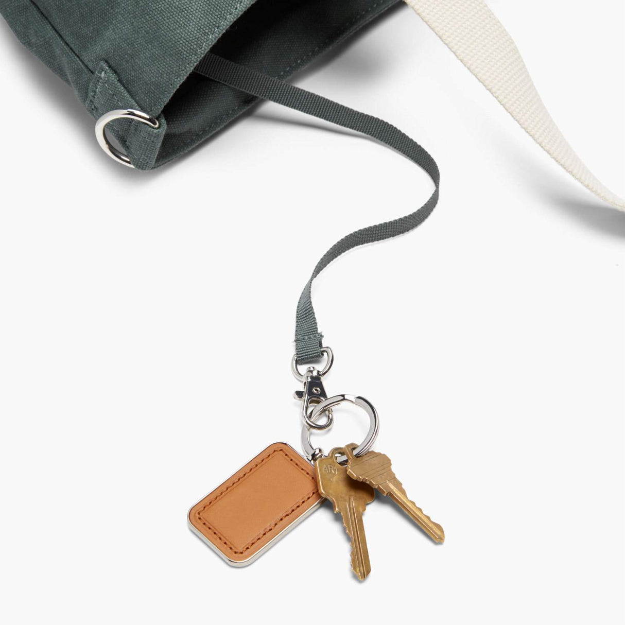 Key Leash - The Catalina Deluxe Tote - Washed Canvas - Forest Green - Tote - Lo & Sons
