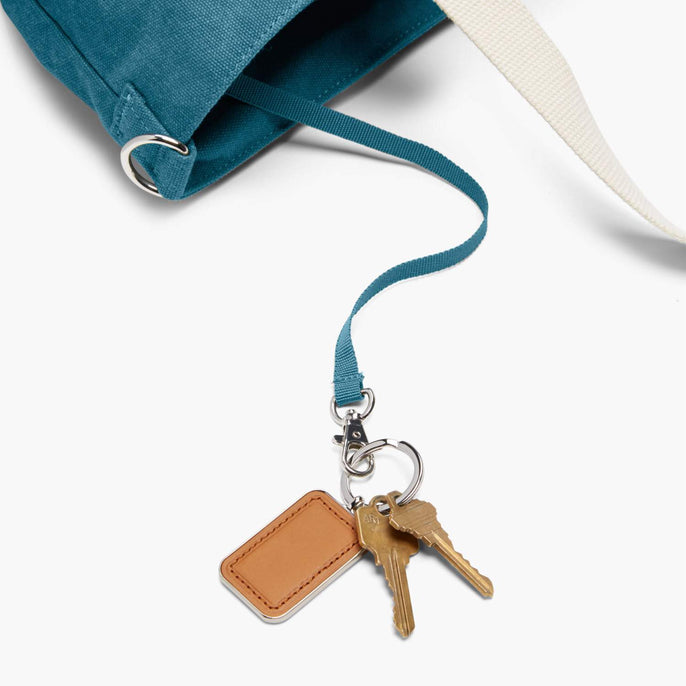 Key Leash - The Catalina Deluxe Tote - Washed Canvas - Teal Blue - Tote - Lo & Sons