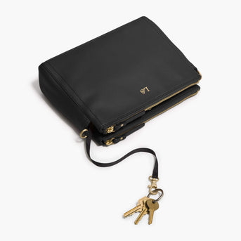 Key Leash - The Pearl - Nappa Leather - Black / Gold / Camel - Crossbody - Lo & Sons