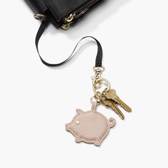 Key Leash Pearl - Year of the Pig Charm - Saffiano Leather - Rose Quartz - Small Accessory - Lo & Sons
