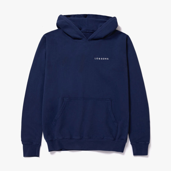 Unisex Essential Logo Hoodie - Organic Cotton - Navy