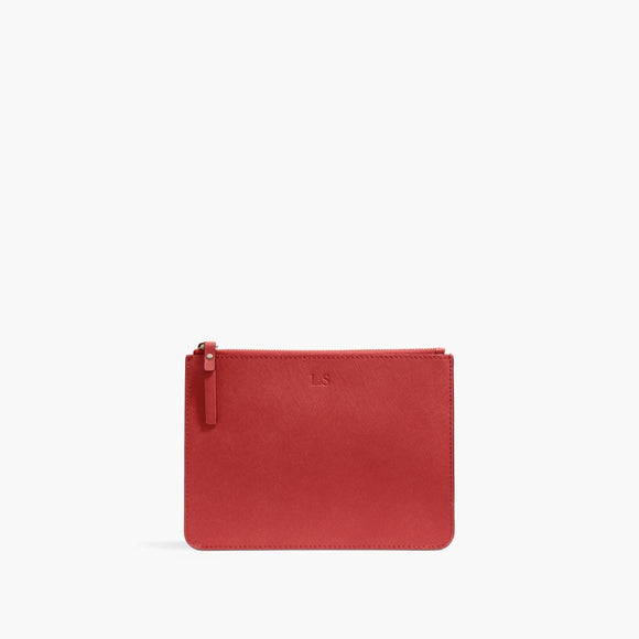 Pouch - Saffiano Leather - Red