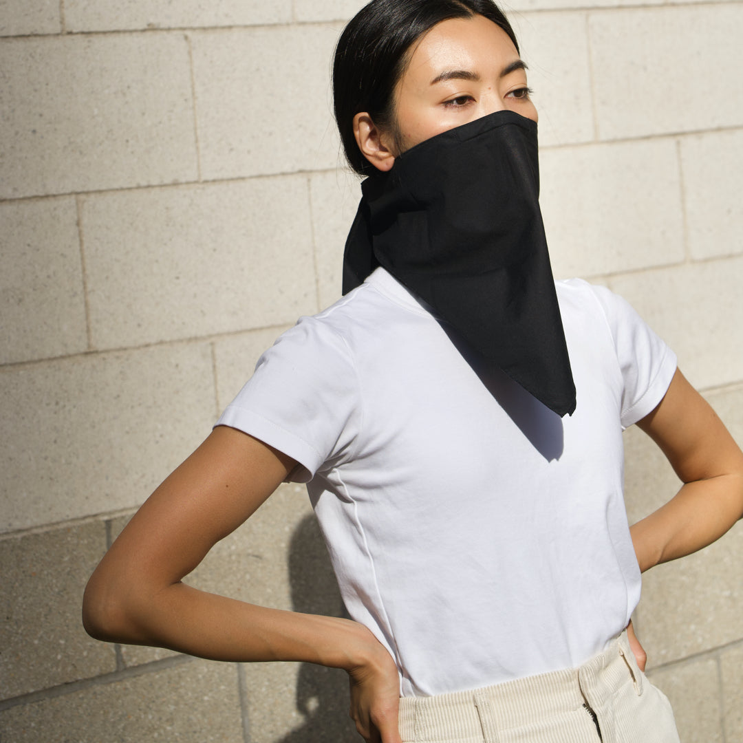 The 4 Layer Bandana Mask - Cotton - Black