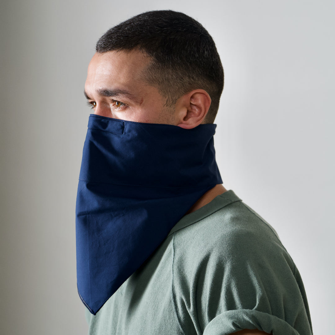 The 4 Layer Bandana Mask - Cotton - Navy