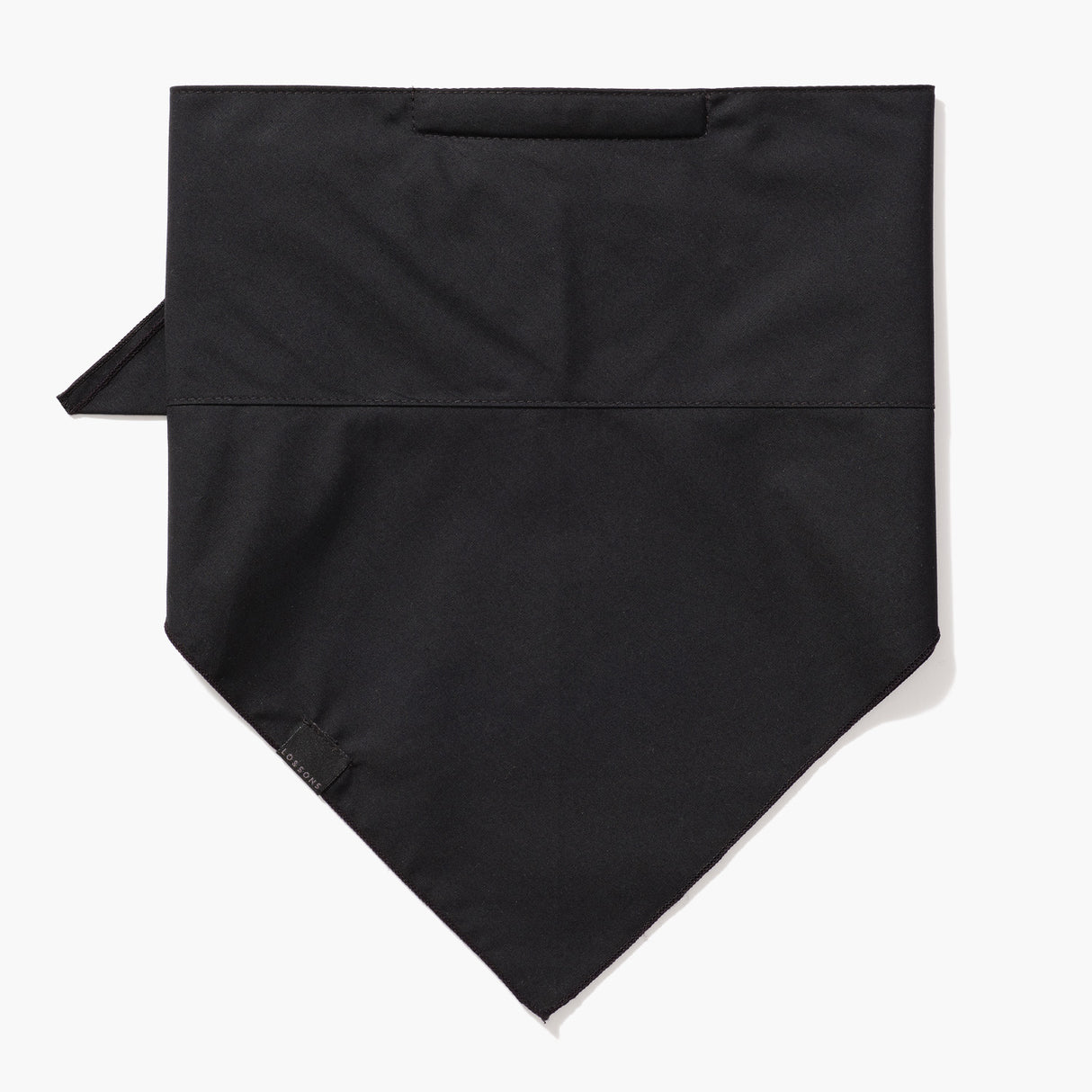 Front - 4 Layer Bandana Mask - Cotton - Black - Small Accessory - Lo & Sons