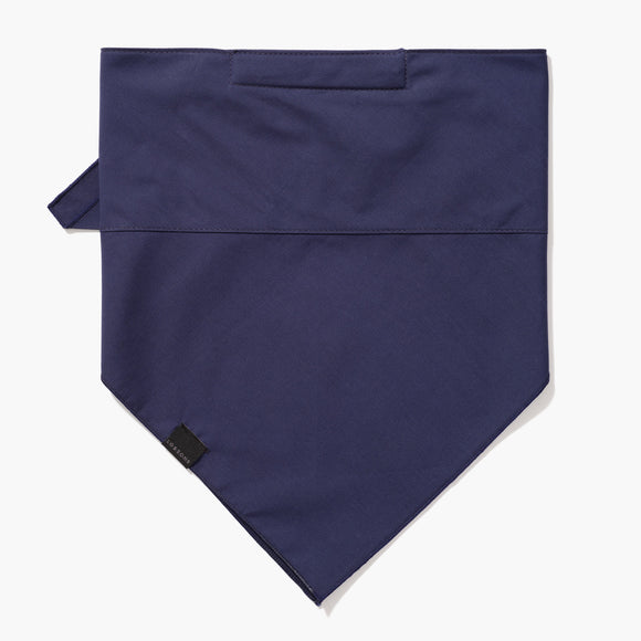 Front - 4 Layer Bandana Mask - Cotton - Navy - Small Accessory - Lo & Sons