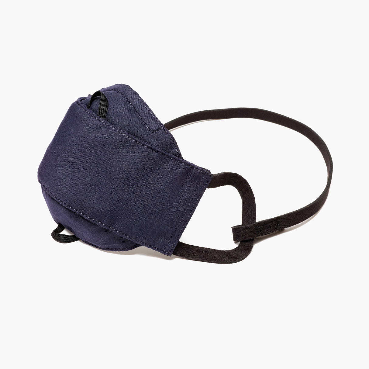 Side - All Day Comfort Face Mask - Cotton Poly - Deep Navy  - Small Accessory - Lo & Sons