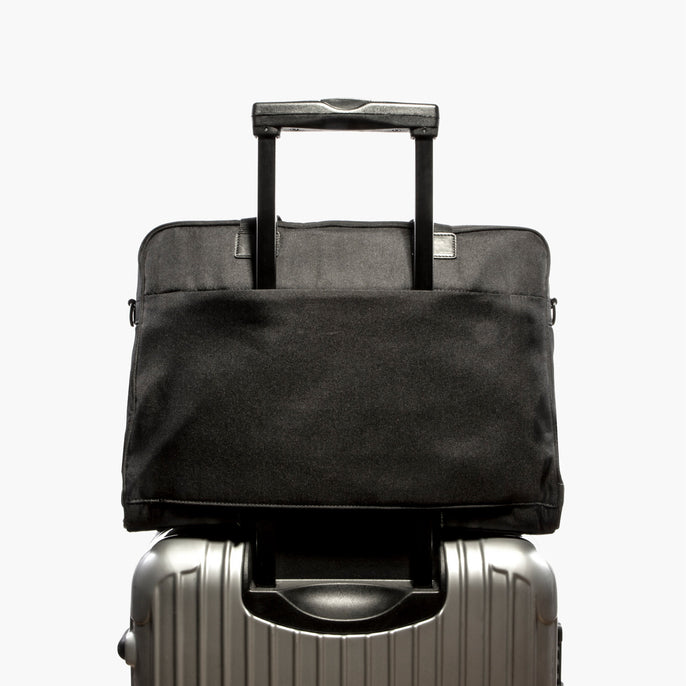 Luggage Sleeve - The Cambridge - 600D Recycled Poly - Onyx - Briefcase - Lo & Sons