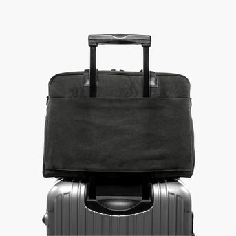 Luggage Sleeve - The Cambridge - Waxed Twill - Charcoal - Briefcase - Lo & Sons