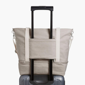 Luggage Sleeve - The Catalina Deluxe Tote - Washed Canvas - Dove Grey - Tote - Lo & Sons