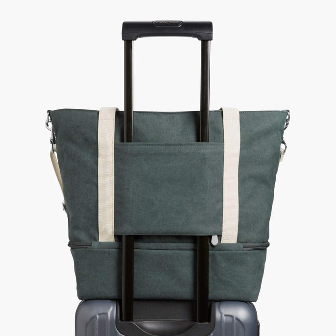 Luggage Sleeve - The Catalina Deluxe Tote - Washed Canvas - Forest Green - Tote - Lo & Sons