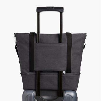 Luggage Sleeve - The Catalina Deluxe Tote - Washed Canvas - Midnight Ash - Tote - Lo & Sons
