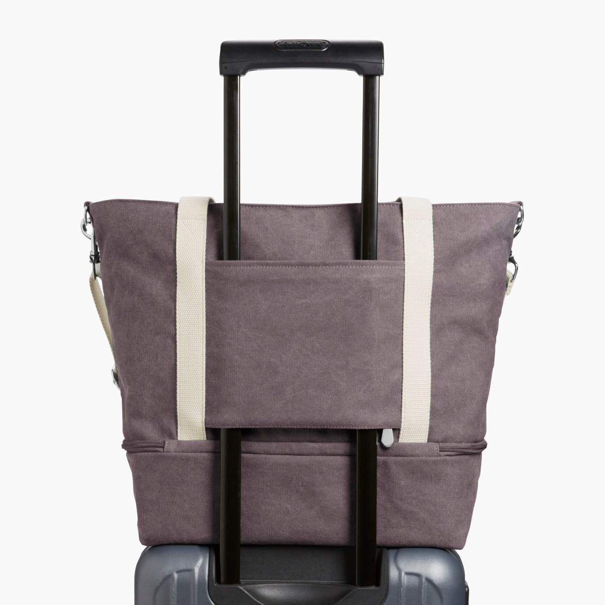 Luggage Sleeve - The Catalina Deluxe Tote - Washed Canvas - Thistle - Tote - Lo & Sons