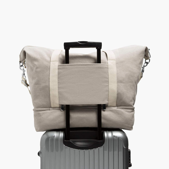 Luggage Sleeve - The Catalina Deluxe - Washed Canvas - Dove Grey - Weekender - Lo & Sons