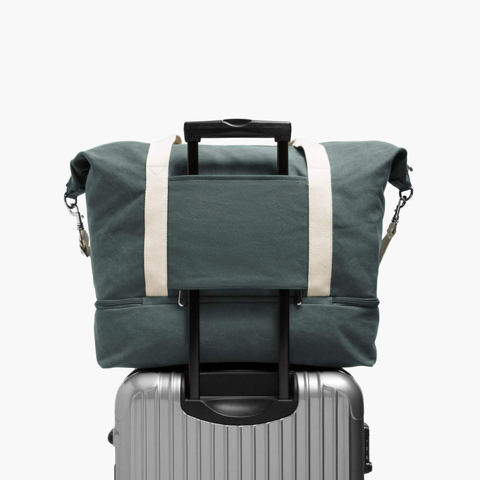 Luggage Sleeve - The Catalina Deluxe - Washed Canvas - Forest Green - Weekender - Lo & Sons