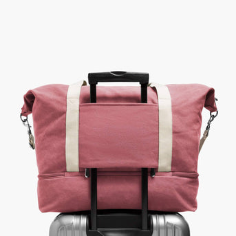 Luggage Sleeve - The Catalina Deluxe - Washed Canvas - Rose - Weekender - Lo & Sons