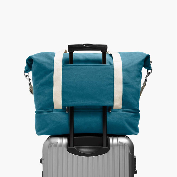 Luggage Sleeve - The Catalina Deluxe - Washed Canvas - Teal Blue - Weekender - Lo & Sons