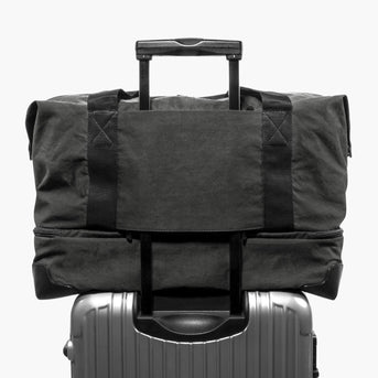 Luggage Sleeve - The Rhodes - Waxed Twill - Charcoal - Weekender - Lo & Sons