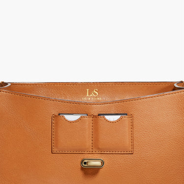Memory Card Pockets - The Claremont - Full Grain Leather - Sienna - Crossbody - Lo & Sons