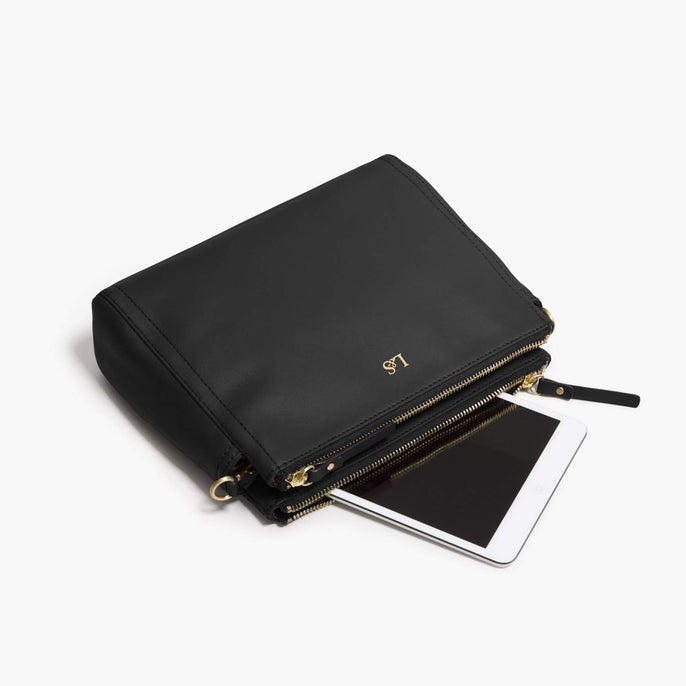 Mini Tablet - The Pearl - Nappa Leather - Black / Gold / Lavender - Crossbody - Lo & Sons