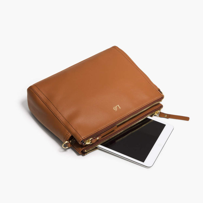 Mini Tablet - The Pearl - Nappa Leather - Sienna / Gold / Camel - Crossbody - Lo & Sons