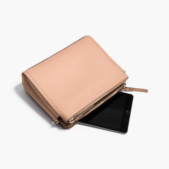 Mini Tablet - The Pearl - Saffiano Leather - Rose Quartz / Gold / Camel - Crossbody - Lo & Sons