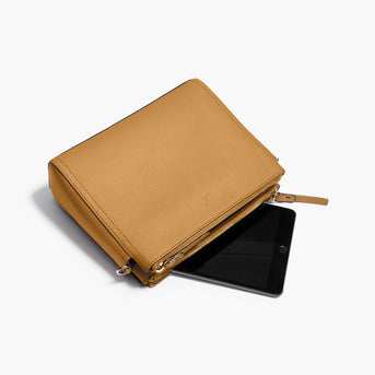 Mini Tablet - The Pearl - Saffiano Leather - Sand / Gold / Camel - Crossbody - Lo & Sons