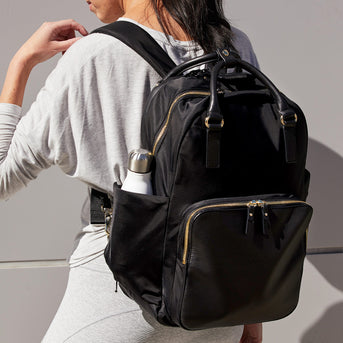 On Model Workout - The Rowledge - Nylon - Black / Gold / Grey - Backpack - Lo & Sons
