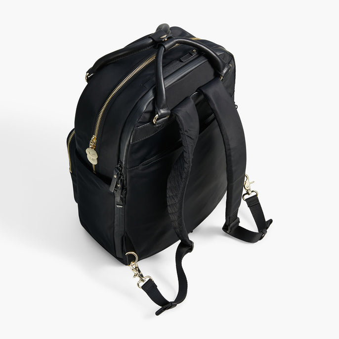 Padded Strap - The Rowledge - Nylon - Black / Gold / Lavender - Backpack - Lo & Sons