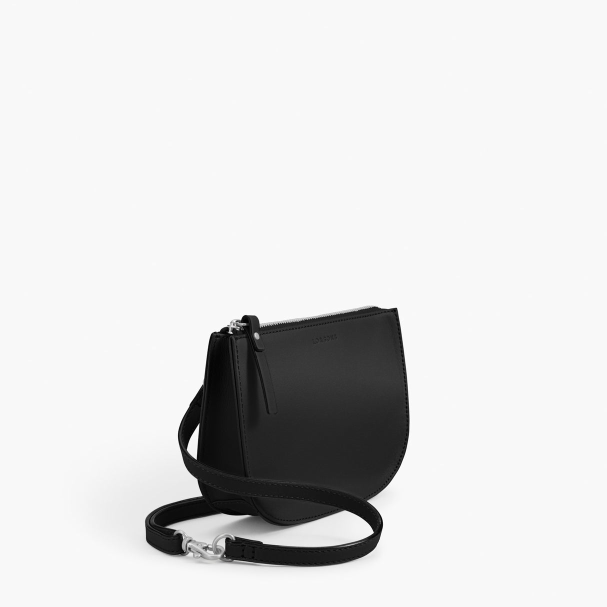 Side - Waverley 2 - Nappa Leather - Black / Silver / Grey - Crossbody Bag - Lo & Sons