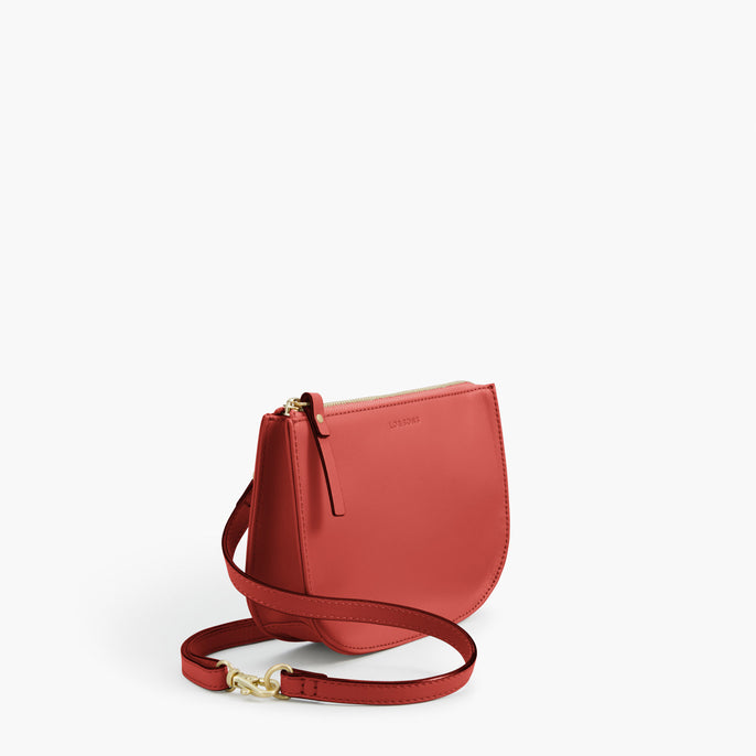 Side - Waverley 2 - Nappa Leather - Santa Fe Red / Gold / Camel - Crossbody Bag - Lo & Sons