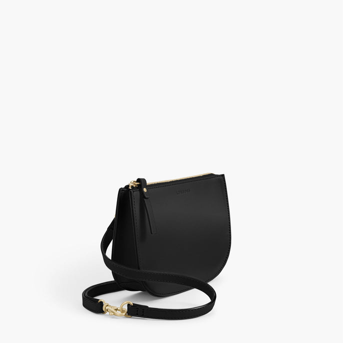 Side - The Waverley 2 - Nappa Leather - Black / Gold / Grey - Crossbody - Lo & Sons