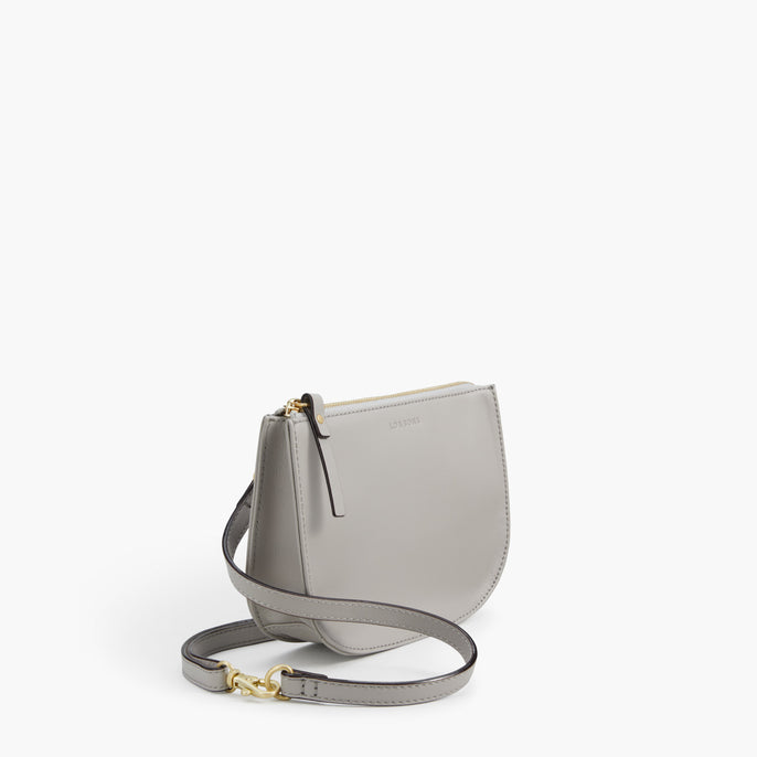 Side - The Waverley 2 - Nappa Leather - Light Grey / Gold / Grey - Crossbody - Lo & Sons