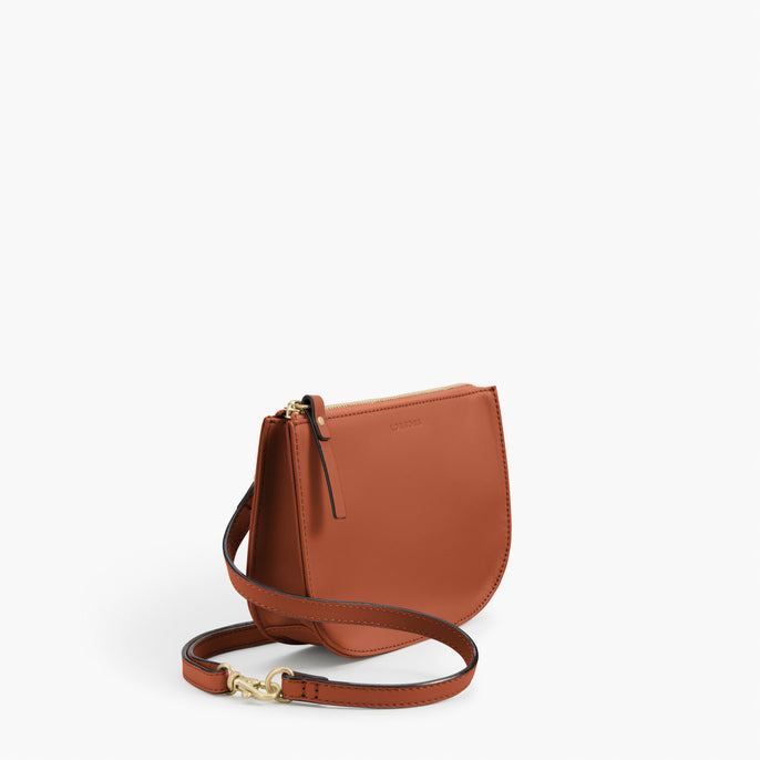 Side - The Waverley 2 - Nappa Leather - Sienna / Gold / Camel - Crossbody - Lo & Sons