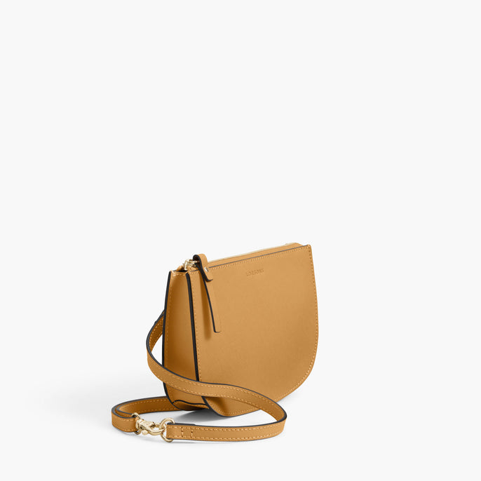 Side - The Waverley 2 - Saffiano Leather - Sand / Gold / Camel - Crossbody - Lo & Sons