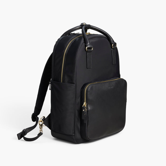 Side Backpack - The Rowledge - Nylon - Black / Gold / Lavender - Backpack - Lo & Sons
