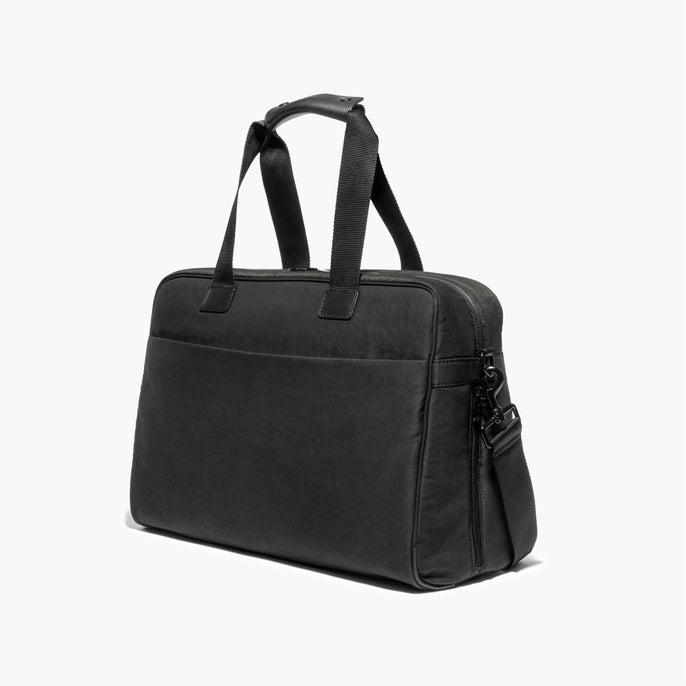 Side - The Cambridge - Waxed Twill - Charcoal - Briefcase - Lo & Sons