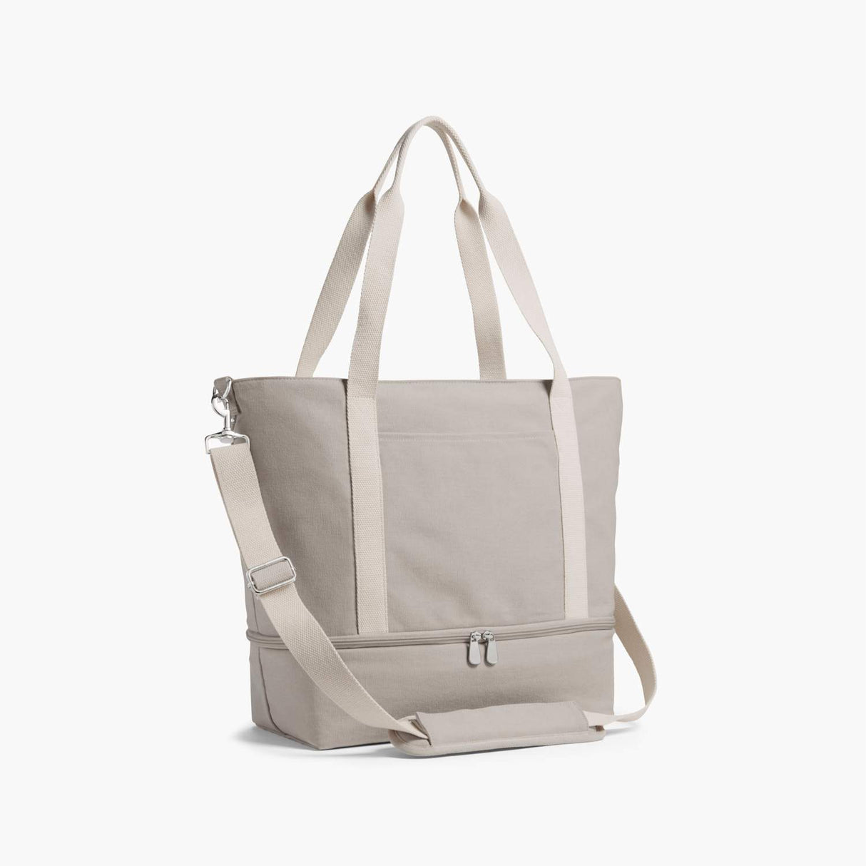 Side - The Catalina Deluxe Tote - Washed Canvas - Dove Grey - Tote - Lo & Sons