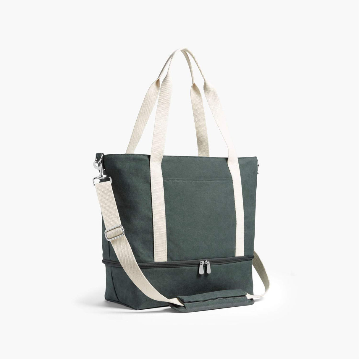 Side - The Catalina Deluxe Tote - Washed Canvas - Forest Green - Tote - Lo & Sons