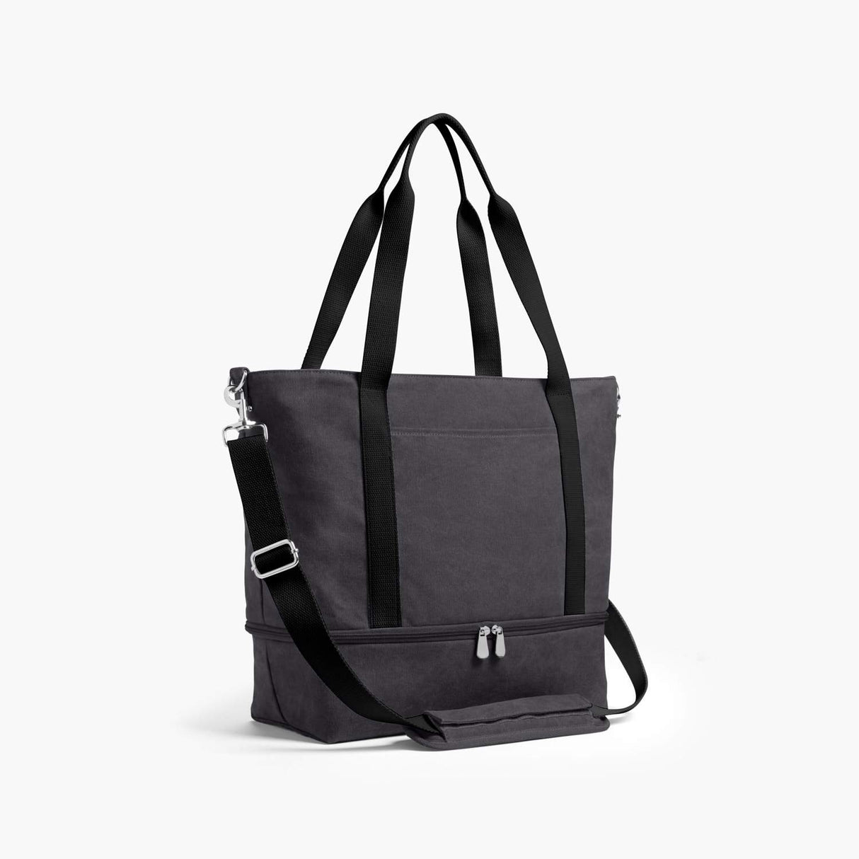 Side - The Catalina Deluxe Tote - Washed Canvas - Midnight Ash - Tote - Lo & Sons